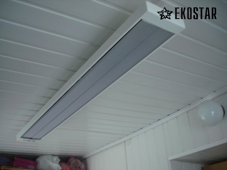 infrarotheizung 1300w deckenmontage ekostar bep24. Black Bedroom Furniture Sets. Home Design Ideas