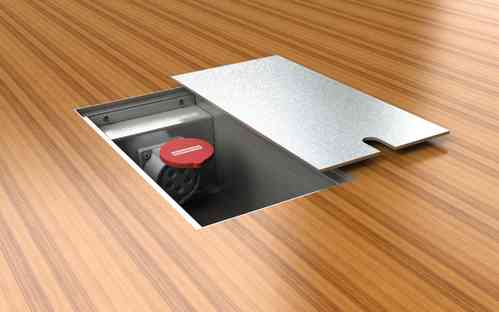 CEE Floor socket with lid to lay on (8100-E)