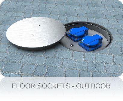 Floorsockets Outdoor. Floor Box Systems