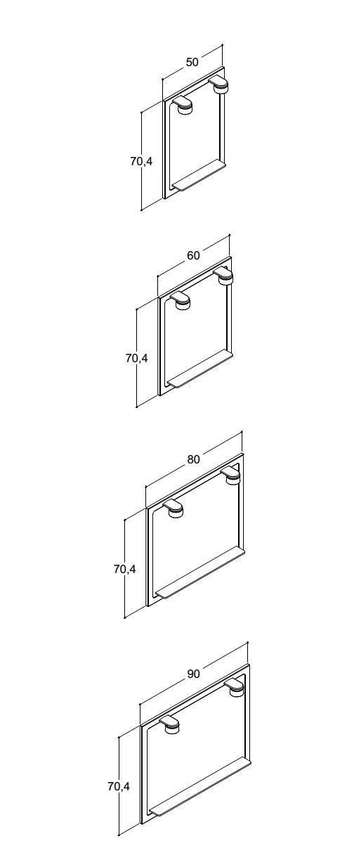 dansani mido spiegel mit 2 lampen bep24. Black Bedroom Furniture Sets. Home Design Ideas