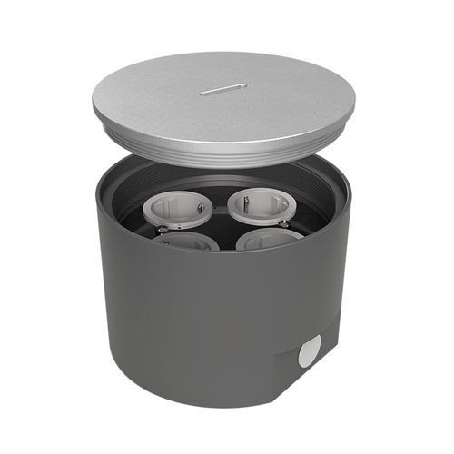 Floor socket outlet with stainless steel screw lid (7704A)