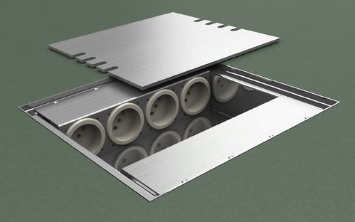 Floor box system with stainless steel lid to lay on (8808E)