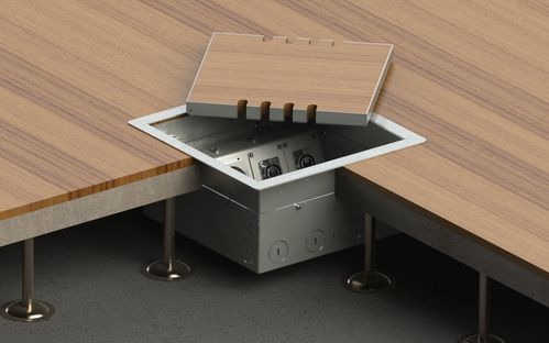 Floor socket for hollow space with lid to lay on (8506B)