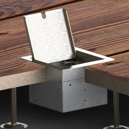 Hollow space floor box with hinged lid (8501E)
