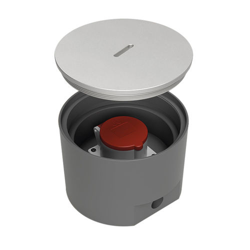 CEE Floor socket round with lockable lid (7705A1)