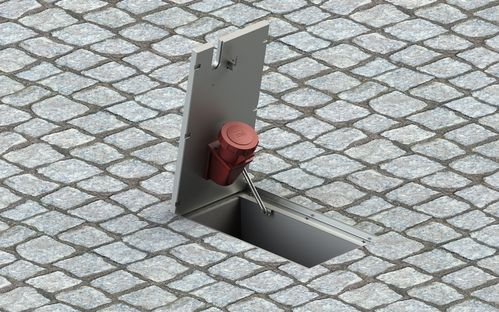 Floor socket round with lockable lid IP 40 (6610-A1)