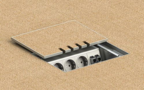 Floor socket with lid to lay on (8804T)