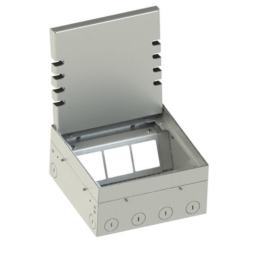 Floor socket with hinged lid (108906B)