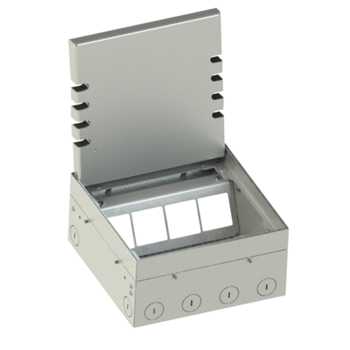 Floor box system with hinged lid (108908B)