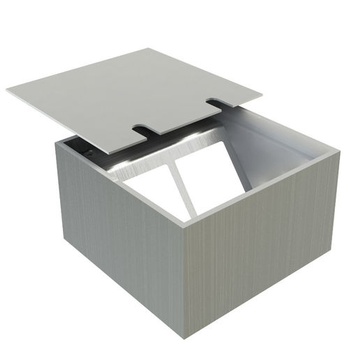Floor socket with borderless lid to affix your own coverings (108802B)
