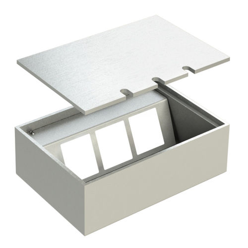 Floor socket with lid to lay on (108803B)