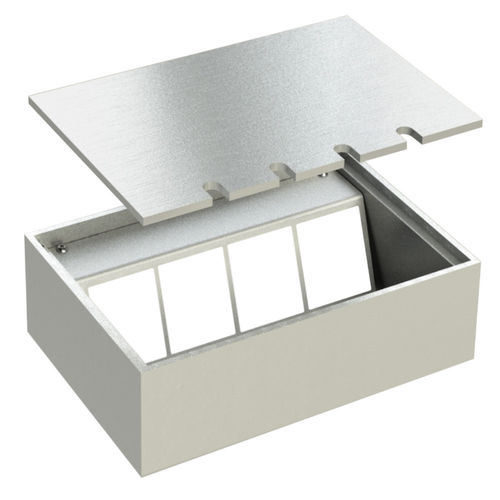 Floor socket with lid to lay on (108804B)