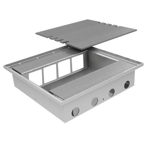 Floor box system with borderless lid for own covering (108808B)
