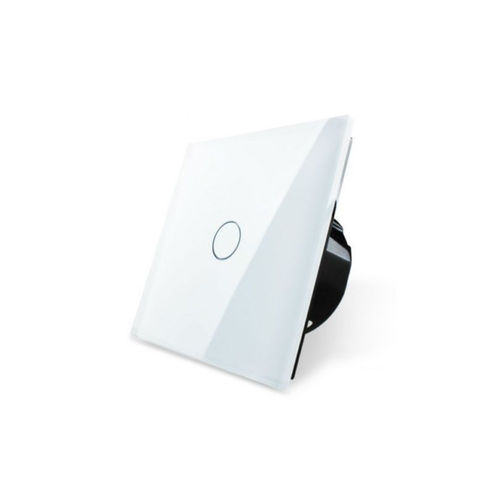 Touch pusher/door bell 1 compartment with glass blene white (30s delay)