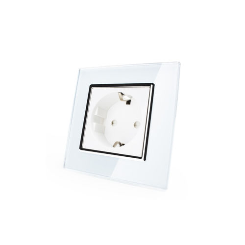 Socket 1 fold with glass cover white