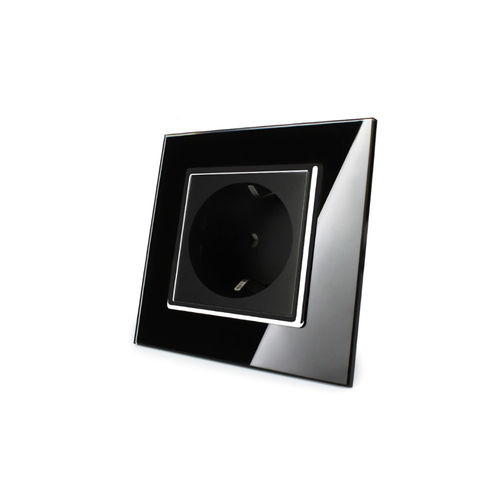 Socket 1 fold with glass cover black