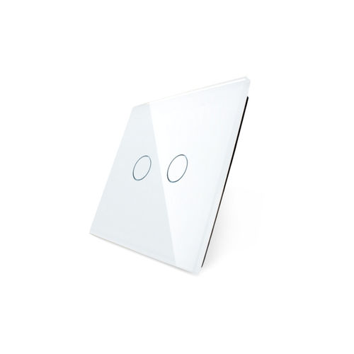 Glass cover 1-fold, white, 2 gear