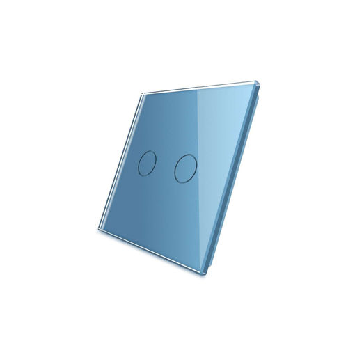 Glass cover 1-fold, blue, 2 gear