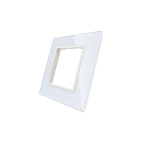 Glass cover 1-fold, for socket, white