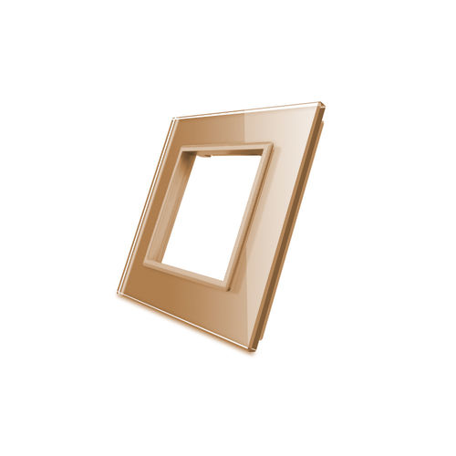 Glass cover 1-fold, for socket, gold