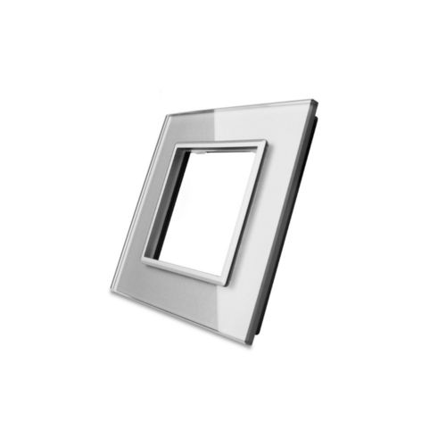 Glass cover 1-fold, for socket, grey