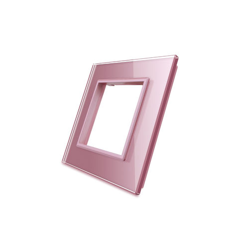 Glass cover 1-fold, for socket, rose