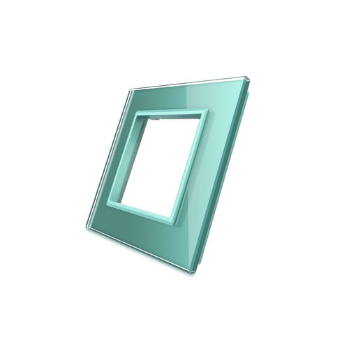 Glass cover 1-fold, for socket, green
