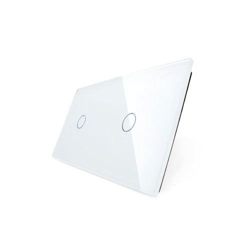 Glass cover 2-fold, white, 1 gear