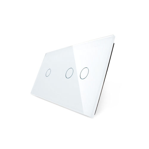 Glass cover 2-fold, white, 1 gear and 2 gear