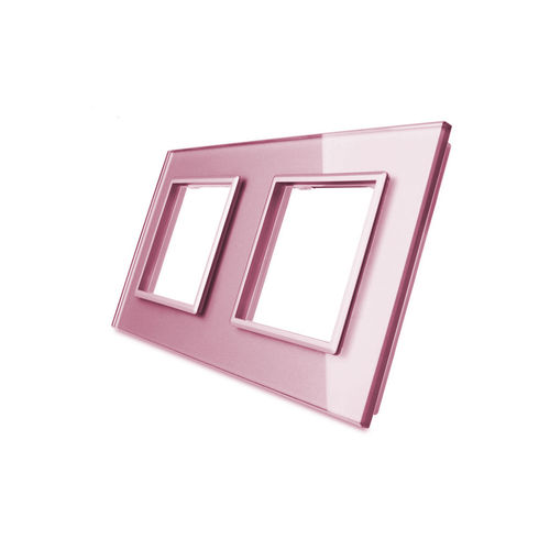 Glass cover 2-fold, for socket, rose