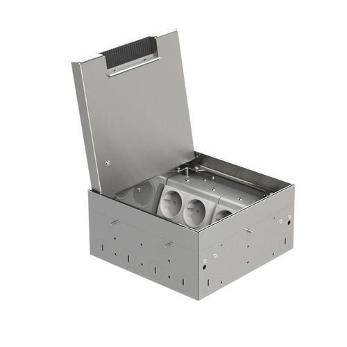 Floor box system with hinged lid (8908BB)