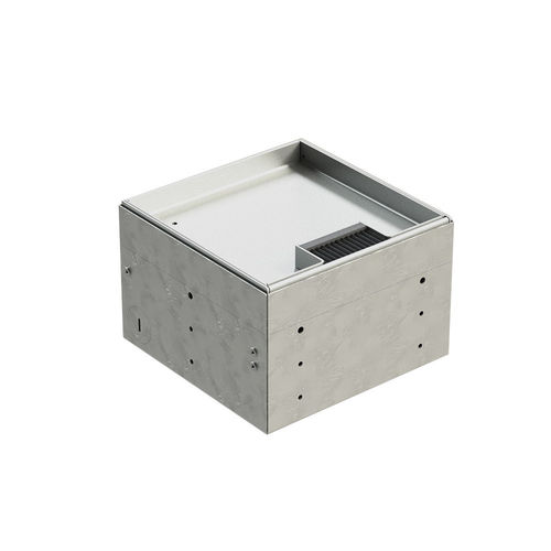 Floor socket with removable hinged lid (8902BB)