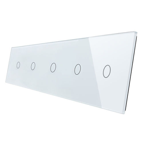 Glass cover 5-fold, white (5x touch 1 gear)
