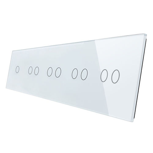 Glass cover 5-fold, white (1 touch 1gear, 4x touch 2 gear)