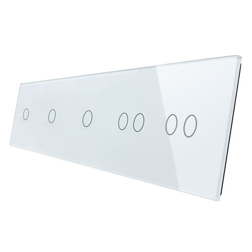Glass cover 5-fold, white (3x touch 1gear, 2x touch 2 gear)