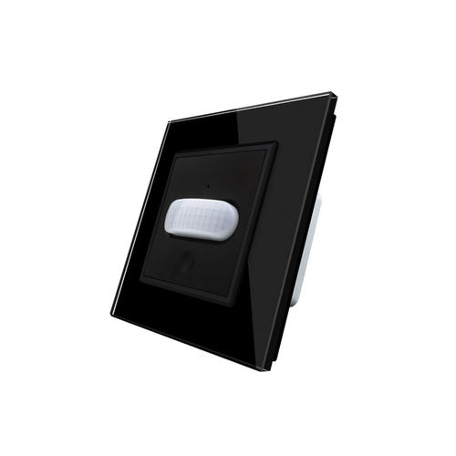 Insert Motion detector / touch switch with glaspanel black