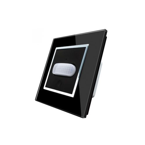Motion detector / touch switch with glaspanel black-chrom
