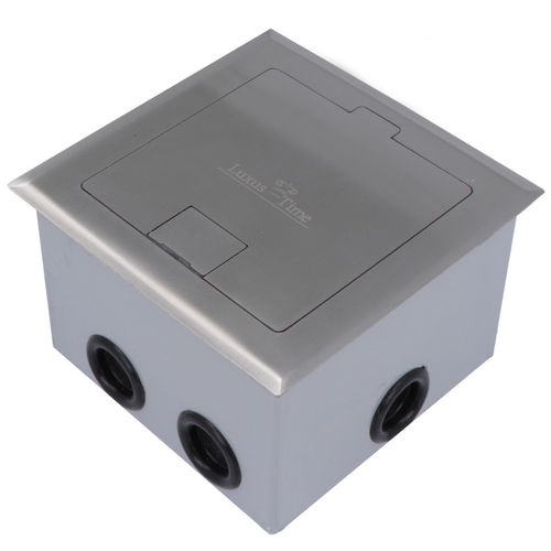 Floor socket with hinged lid incl. Adapterbox for mortaring